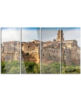 New Deal On Design Art Tuscany Pitigliano Medieval Village 4 Piece Photographic Print On Wrapped Canvas Set Pt7046 271