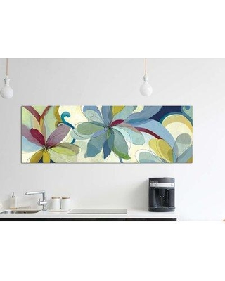 """East Urban Home 'Silk Flowers I' By Aimee Wilson Graphic Art Print on Wrapped Canvas ETRC5302 Size: 12"""" H x 36"""" W x 0.75"""" D"""
