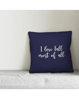 Winston Porter Nelsen I Love Fall Most of All Pillow W000464194 Color: Navy Product Type: Throw Pillow