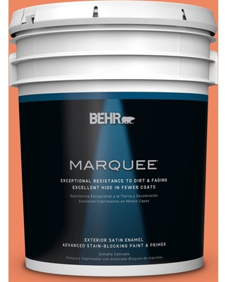 BEHR MARQUEE 5 gal. #P190-5 Orioles Satin Enamel Exterior Paint and Primer in One