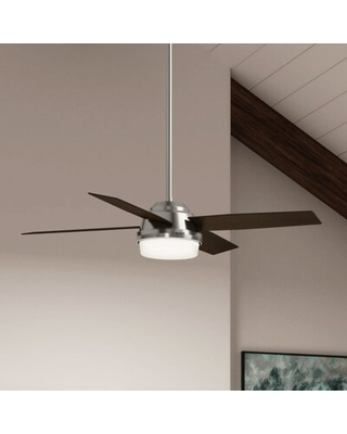 """52"""" Dempsey 4 - Blade LED Standard Ceiling Fan with Remote Control and Light Kit Included"""