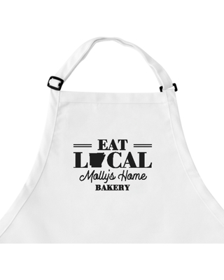 Personalized Eat Local Apron - White