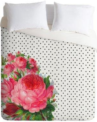 East Urban Home Floral Polka Dots Duvet Cover ESUI0842 Size: King