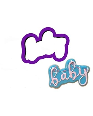 Baby Word Cookie Cutter - Word Cookie Cutters - Baby Cookie Cutters - Cookie Cutters - Polymer Clay Cutter - Fondant Cutters - Craft Cutters
