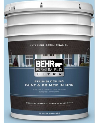 BEHR Premium Plus Ultra 5 gal. #560C-3 Holiday Road Satin Enamel Exterior Paint and Primer in One