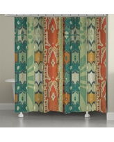 LauralHome Ikat Bloom Shower Curtain IB74SC