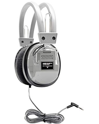 HamiltonBuhl SchoolMate Deluxe Stereo Headphone Gray with 3.5mm Plug
