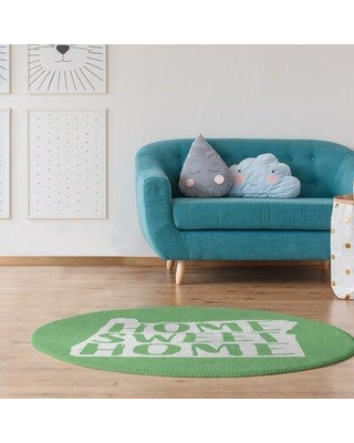 East Urban Home Home Sweet Oregon Poly Chenille Rug EBKR7209