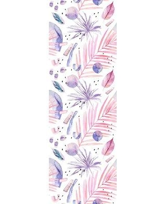 """Bay Isle Home Science Removable Palm Leave 8.33' L x 25"""" W Peel and Stick Wallpaper Roll W000256842"""