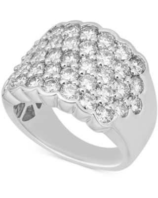 Diamond Pave Cluster Ring (3-1/6 ct. t.w.) in 14k White Gold