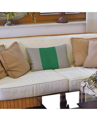 Deals On East Urban Home Vancouver Hockey Striped Lumbar Pillow Polyester Polyfill Leather Suede In Gray Green Size 14x20 Wayfair