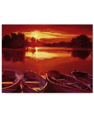 Trademark Fine Art 'The End Of The Day' Canvas Art by David Lloyd Glover