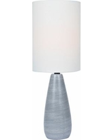 """Quatro 17""""H Gray Modern Table Lamp with White Shade"""