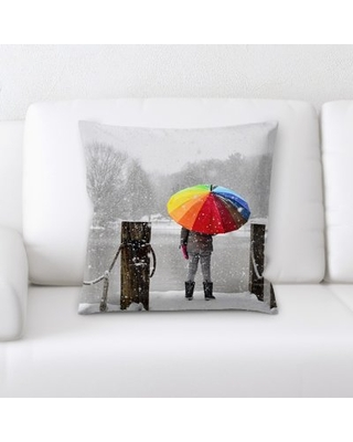 Rainbow Throw Pillow Rug Tycoon