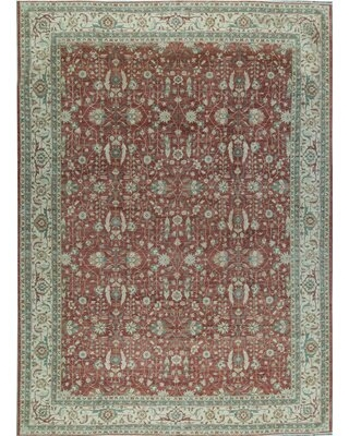 Oriental Hand-Knotted Wool Rust/ Ivory Area Rug Bokara Rug Co., Inc.
