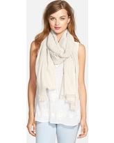 Women's Nordstrom Cashmere & Silk Wrap, Size One Size - Ivory