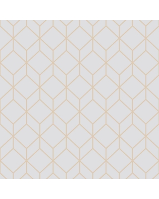 Graham & Brown Myrtle Geo Grey and Rose Gold Removable Wallpaper, Gray/Rose Gold