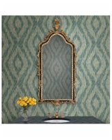 """Brewster Home Fashions Ethereal Ogee Wallpaper - 396"""" x 20.5"""" x 0.025"""" - Green"""