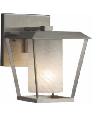 Justice Design Group Fusion 8 Inch Wall Sconce - FSN-7551W-10-WEVE-NCKL