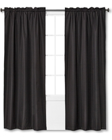 "Braxton Thermaback Light Blocking Curtain Panel Black (42""x84"") - Eclipse"