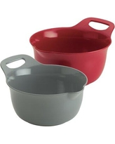Rachael Ray Rachael Ray Kitchenware Nesting 2 Piece Melamine Mixing Bowl Set 4764 Color: Red