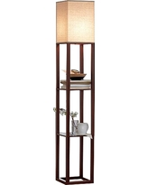 Shelf Floor Lamp with Shade (Includes Cfl Bulb) - Threshold, Brown