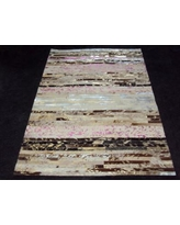 Modern Rugs Patchwork Stripe Neapolitan Area Rug patchw5-80 Rug Size: Square 6'