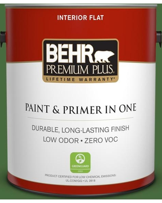 BEHR Premium Plus 1 gal. #410D-7 Mountain Forest Flat Low Odor Interior Paint and Primer in One