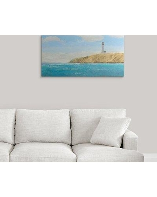 """Great Big Canvas 'Lighthouse Seascape II' by James Wiens Painting Print 2417294_1 Size: 18"""" H x 36"""" W x 1.5"""" D Format: Canvas"""
