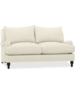 "Carlisle Upholstered Loveseat 71"", Down Blend Wrapped Cushions, Premium Performance Basketweave Ivory"