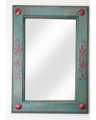 Millwood Pines Leister Rustic Accent Mirror X113899473