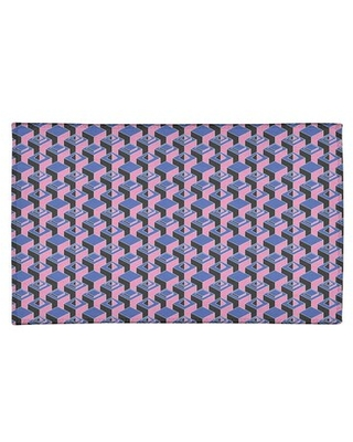 Great Prices For Dark Skyscrapers Pink Blue Black Area Rug East Urban Home Rug Size Rectangle 4 X 6