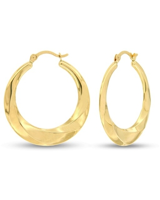 40 Off Kay Stamped Fashion Hoop Earrings 14k Yellow Gold