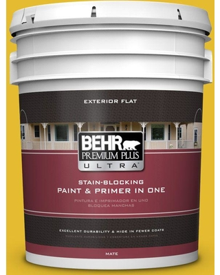 BEHR ULTRA 5 gal. #T11-11 Lizard Breath Flat Exterior Paint and Primer in One