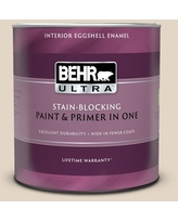 Savings On Behr Ultra 1 Qt N270 1 High Style Beige Flat Exterior Paint And Primer In One