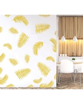 Palm Fronds Wall Decal, Signal Yellow