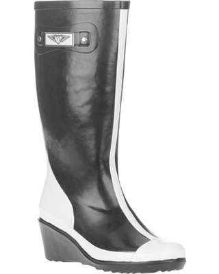 Forever Young Women's Wedge Tall Two-tone Rain Boot