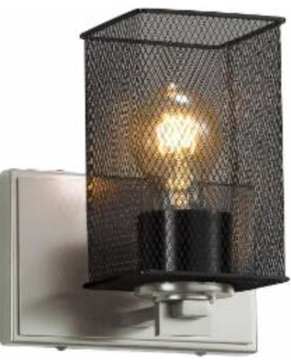 Justice Design Group Wire Mesh 7 Inch Wall Sconce - MSH-8441-15-NCKL