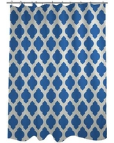 One Bella Casa All Over Moroccan Shower Curtain HMW5340 Color: Palace Blue/Ivory