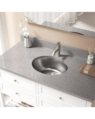 """MR Direct Stainless Steel 19"""" Dual Mount Bathroom Sink with Overflow MRDR1829 Drain Finish: Brushed Nickel"""