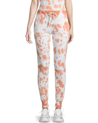 Theo & Spence Women's Tie-Dyed Jogger Pants - Peach - Size XS