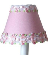 "Silly Bear Venise Lace 11"" Fabric Empire Lamp Shade LS-042"