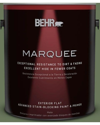 BEHR MARQUEE 1 gal. #PPU10-01 Scallion Flat Exterior Paint and Primer in One
