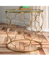 Amazing Savings On Mercer41 Conlon Bamboo Look Stainless Steel 2 Piece Nesting Tables Glass Metal In Silver Size 14 5 L X 0 W X 30 12 H Wayfair