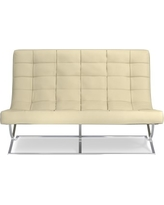 James Loveseat, Faux Suede, Solid, Champagne