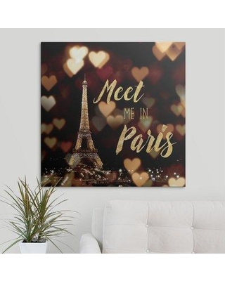 """Great Big Canvas 'Meet Me in Paris' by Laura Marshall Textual Art 2400112_1 Size: 30"""" H x 30"""" W x 1.5"""" D Format: Canvas"""