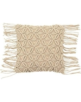 FrenchConnection Rennick Decorative Throw Pillow W000120857 Color: Ivory