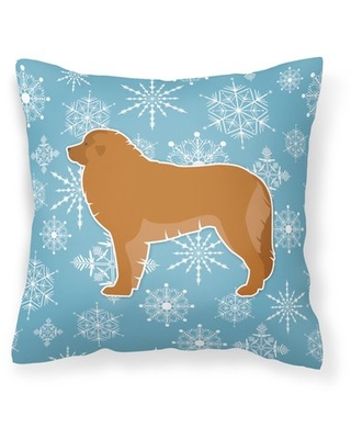 """Winter Snowflakes Indoor/Outdoor Throw Pillow East Urban Home Size: 14"""" H x 14"""" W x 3"""" D"""