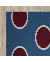 The Holiday Aisle Blue Indoor/Outdoor Area Rug HLDY1424 Rug Size: Rectangle 2' x 3'