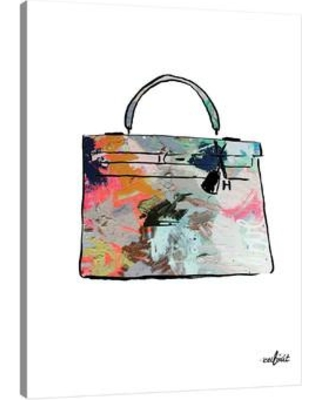 "JaxsonRea 'Paint Purse' by Kent Youngstrom Painting Print on Wrapped Canvas SC2375 Size: 24"" H x 16"" W x 1.5"" D"